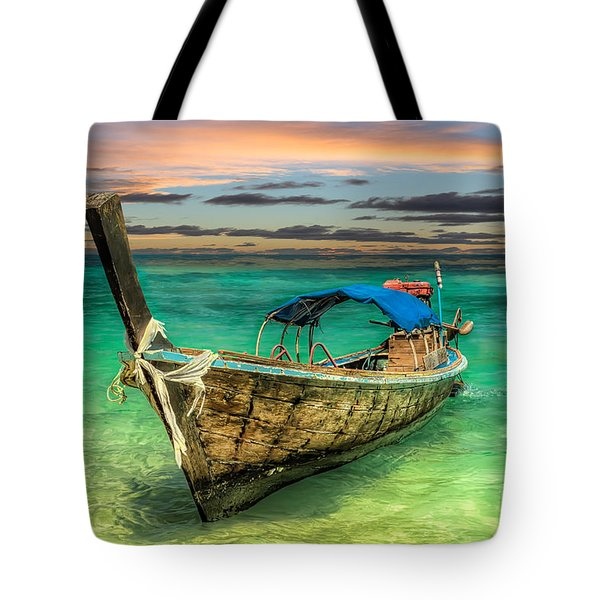 Tote Bag featuring the photograph Longboat Sunset by Adrian Evans