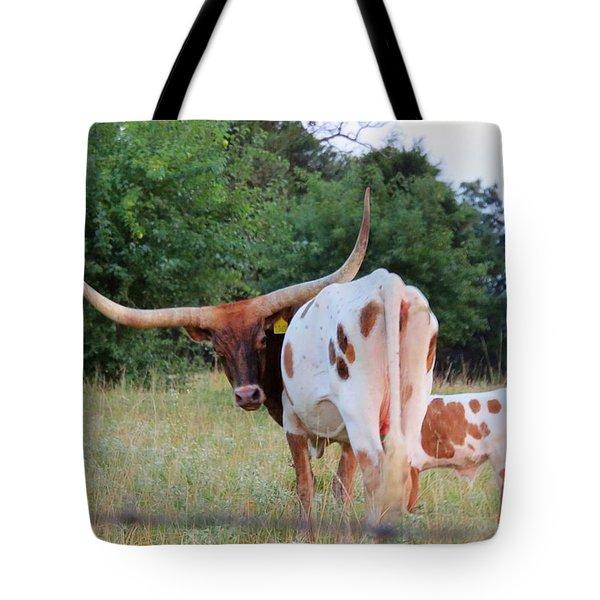 Longhorn Cattle Tote Bag