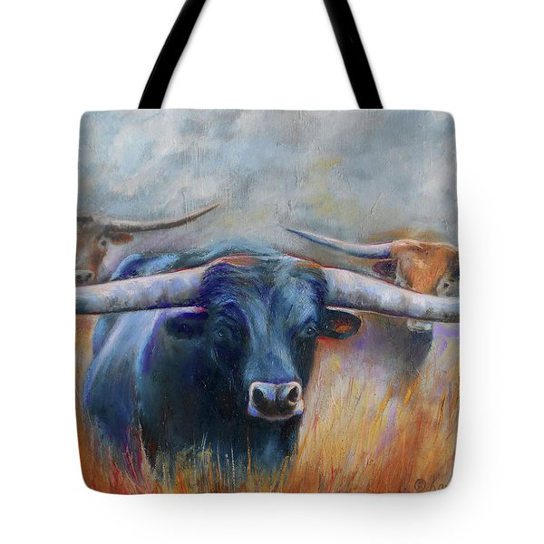 Longhorn Country Tote Bag by Karen Kennedy Chatham