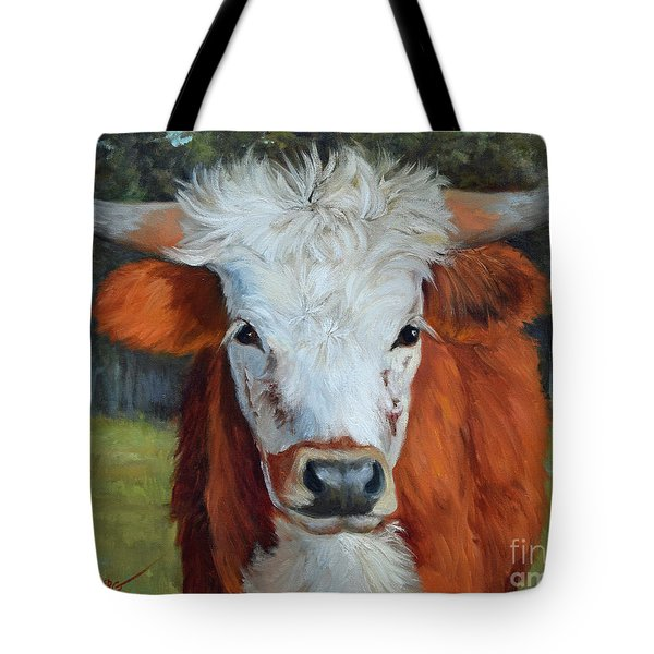 Longhorn Cow Painting II, Ms Tilly  Tote Bag