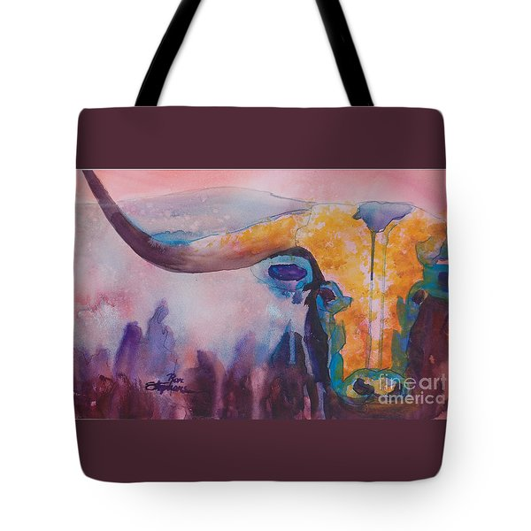 Longhorn Study #2 Tote Bag by Ron Stephens