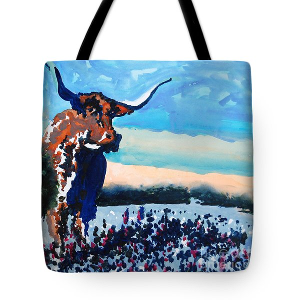 Longhorn Study #4 Tote Bag by Ron Stephens
