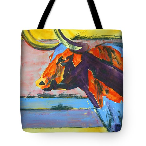 Longhorn Study#1 Tote Bag by Ron Stephens