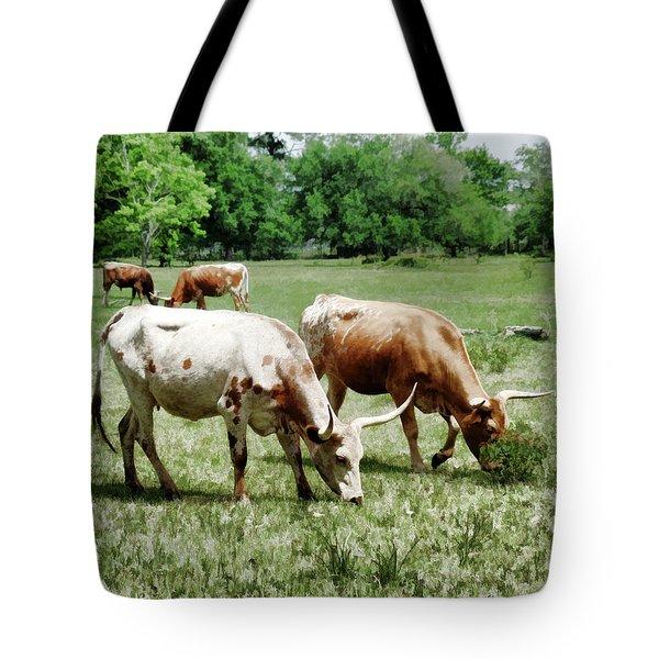 Longhorns Pastel II Tote Bag