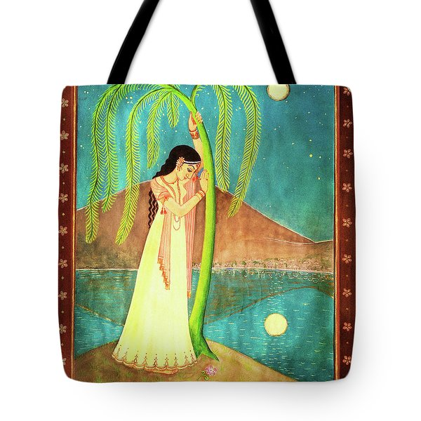 Tote Bag featuring the painting Longing For Her Love by Ananda Vdovic