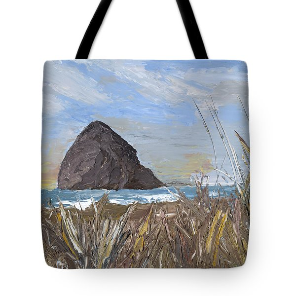 Longing For The Sounds Of Haystack Rock Tote Bag