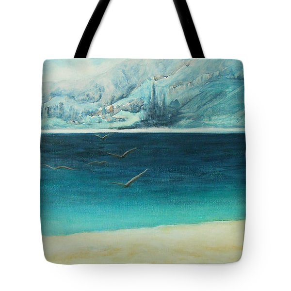 Tote Bag featuring the painting Longing by Jane See
