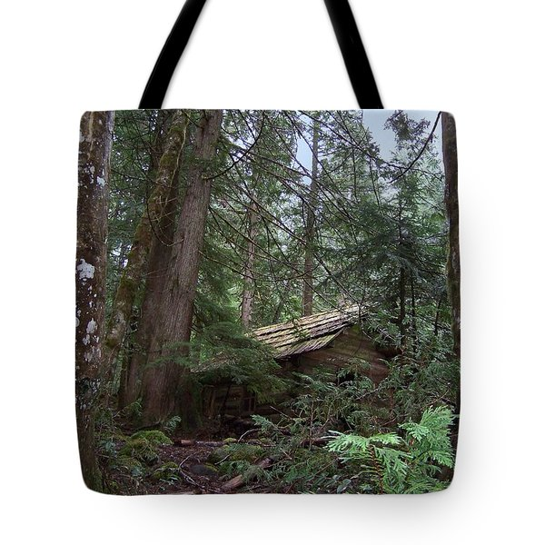 Tote Bag featuring the photograph Longmire Cabin by Charles Robinson