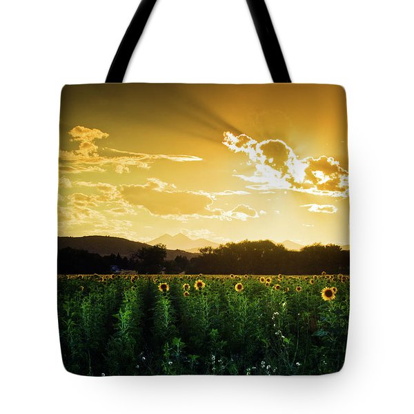 Tote Bag featuring the photograph Longmont Summer Skies 2 by John De Bord