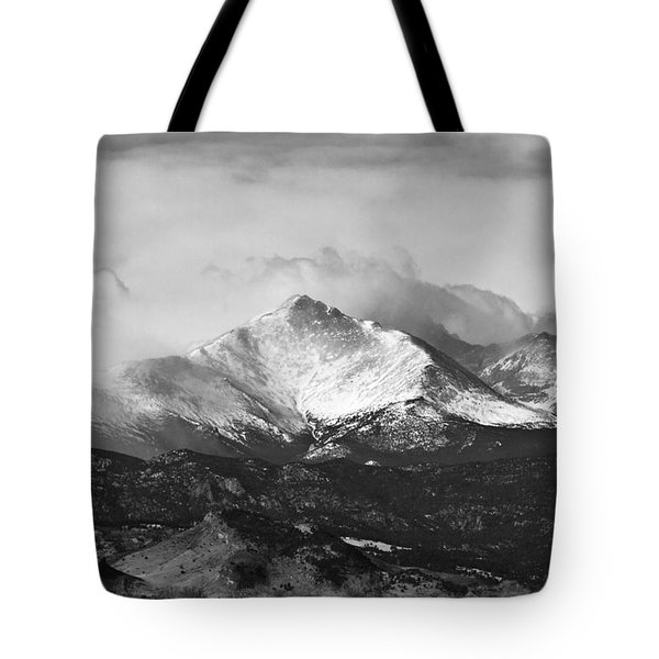 Longs Peak And A Mean Storm Tote Bag by James BO  Insogna