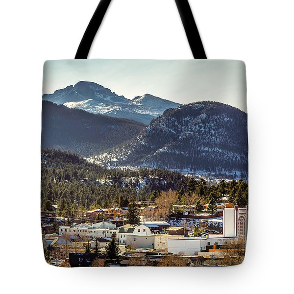 Longs Peak From Estes Park Tote Bag