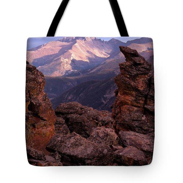 Longs Peak From Rock Cut  Tote Bag