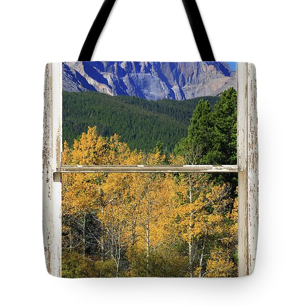 Longs Peak Window View Tote Bag