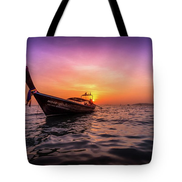 Longtail Sunset Tote Bag