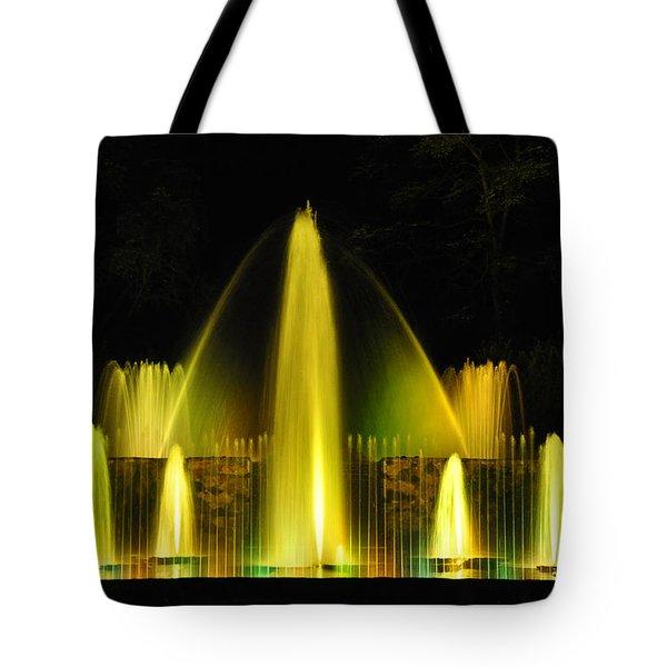 Longwood Garden Nightscape 3 Tote Bag