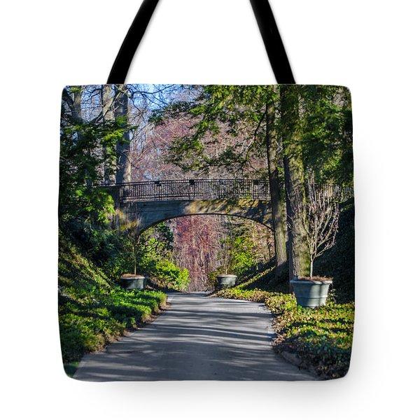 Longwood Gardens - Bridge Over Path Tote Bag