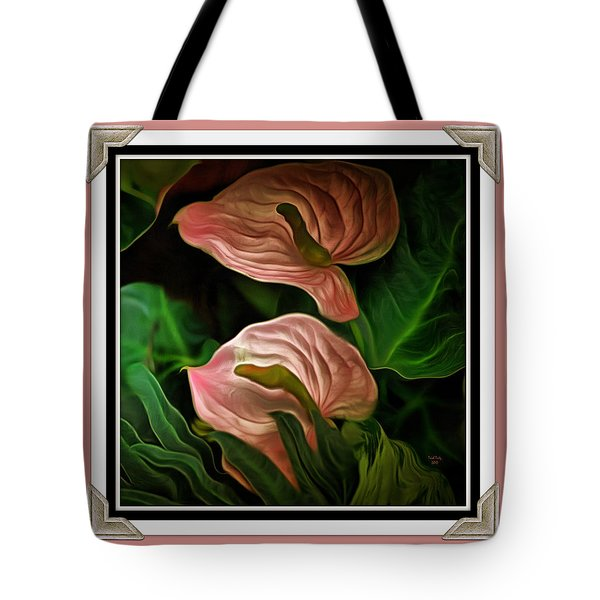 Tote Bag featuring the mixed media Longwood Lilies by Trish Tritz