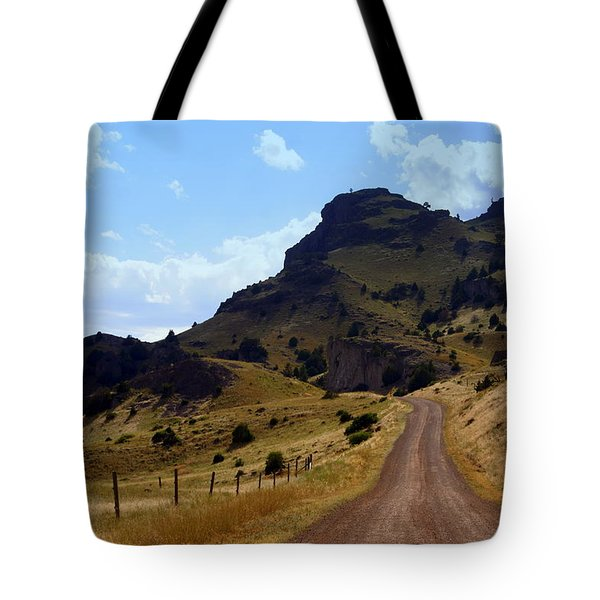 Lonly Road Tote Bag by Marty Koch
