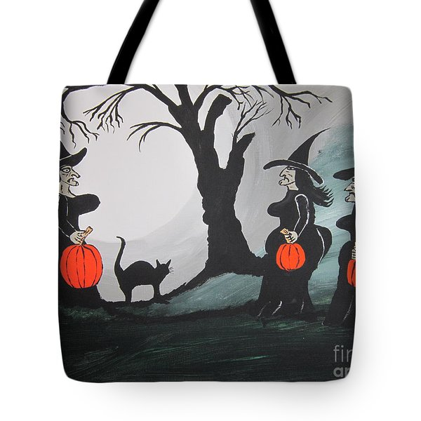 Tote Bag featuring the painting Look At The Size Of Her Pumpkins by Jeffrey Koss