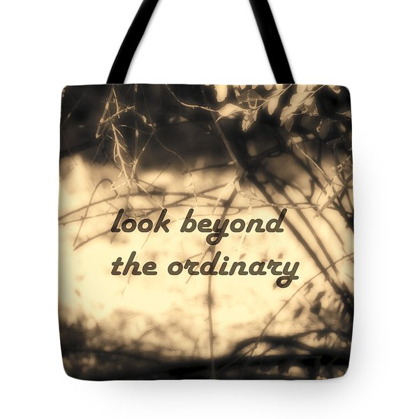 Tote Bag featuring the photograph Look Beyond by Ann Powell
