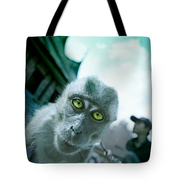 Look Into My Eyes Tote Bag by Charuhas Images