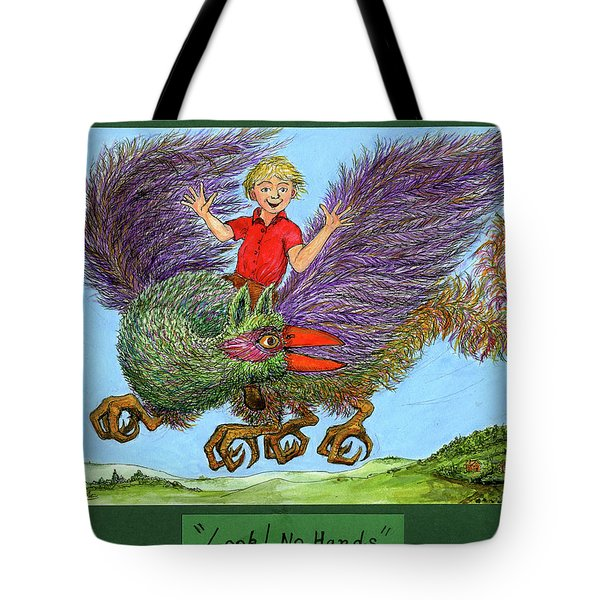 Look No Hands Tote Bag by Charles Cater