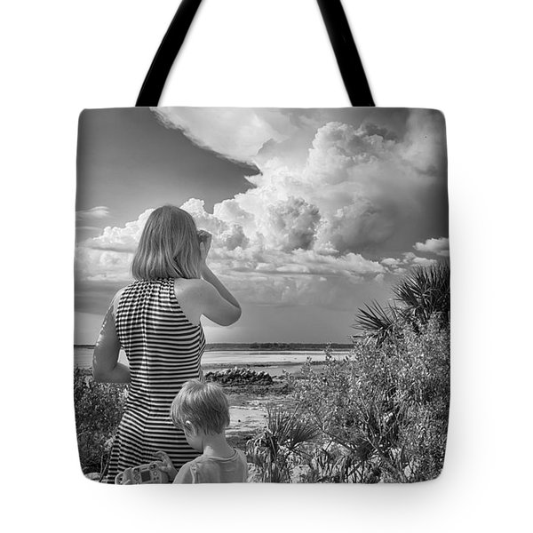 Tote Bag featuring the photograph Look Out by Howard Salmon