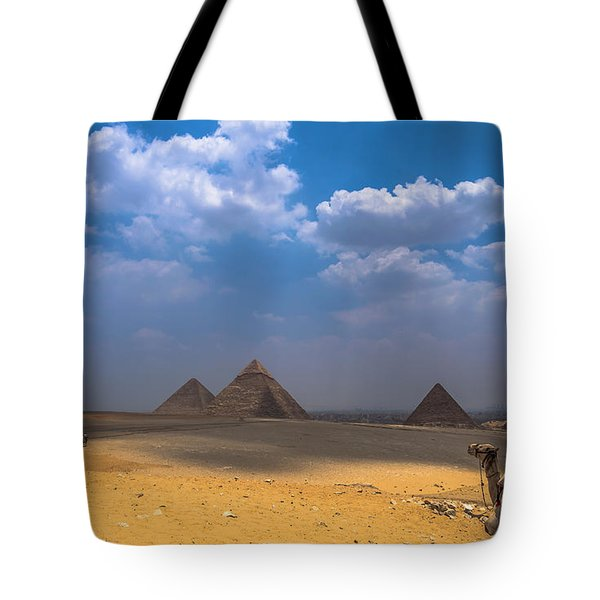 Tote Bag featuring the photograph Look Towards The Ancient Wonder by Julis Simo