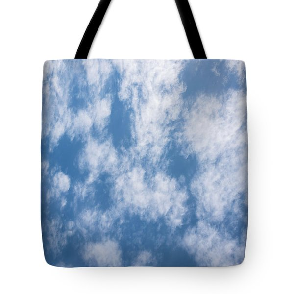 Look Up Not Down Clouds Tote Bag by Terry DeLuco
