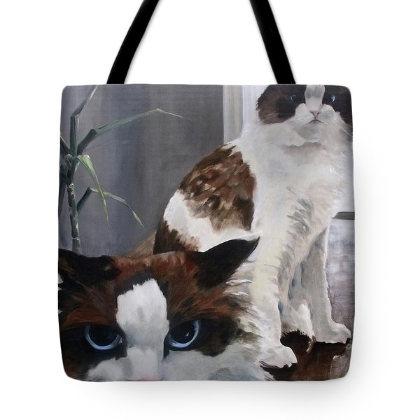 Look Who Is Grumpy Now Tote Bag by Diane Daigle