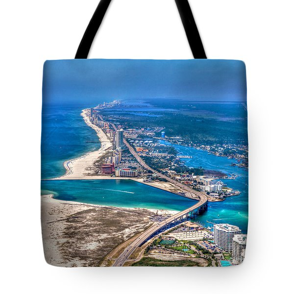 Tote Bag featuring the photograph Looking West Across Perdio Pass by Gulf Coast Aerials -
