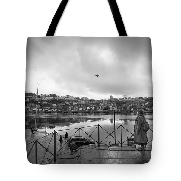 Looking And Passing By Tote Bag
