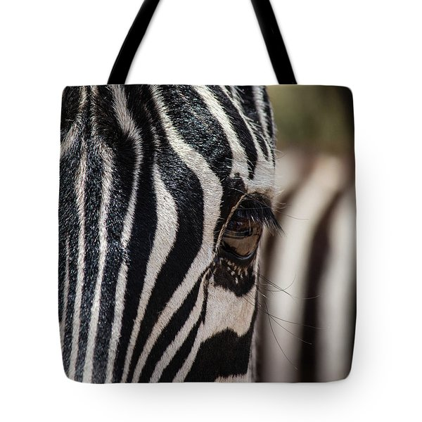 Tote Bag featuring the photograph Looking At Me by Teresa Wilson
