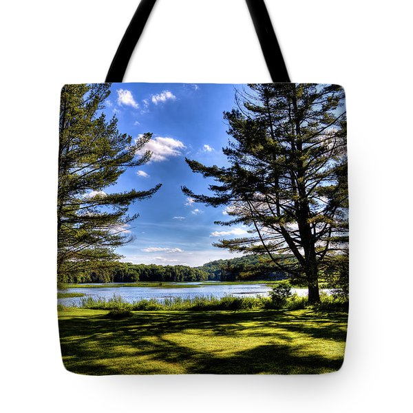 Looking At The Moose River Tote Bag by David Patterson
