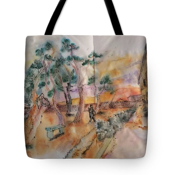 Looking At Van Gogh Album Tote Bag
