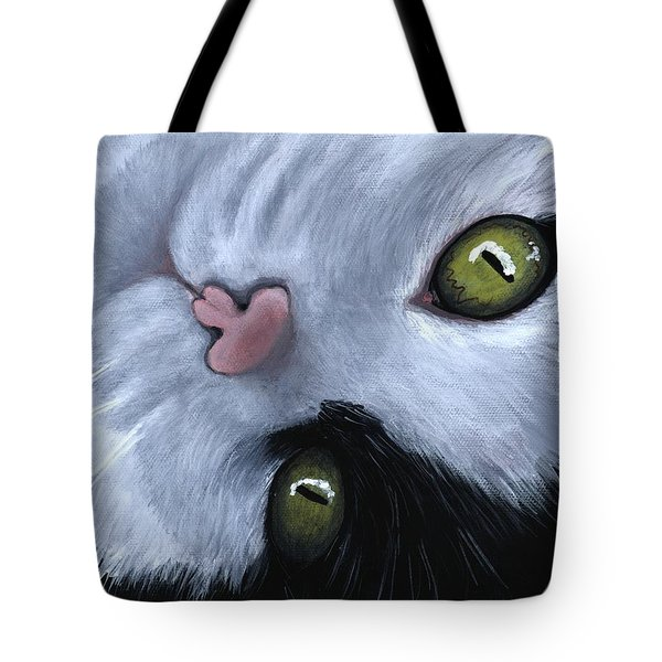 Tote Bag featuring the painting Looking At You by Anastasiya Malakhova