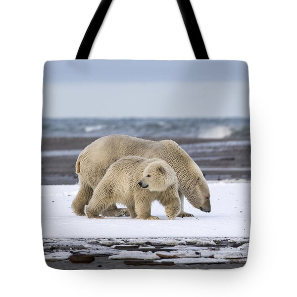 Looking Back In The Arctic Tote Bag