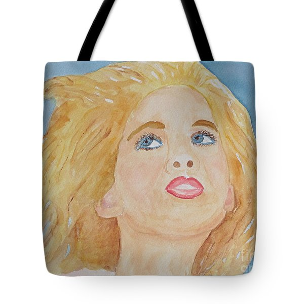 Tote Bag featuring the painting Looking Back by Sandy McIntire