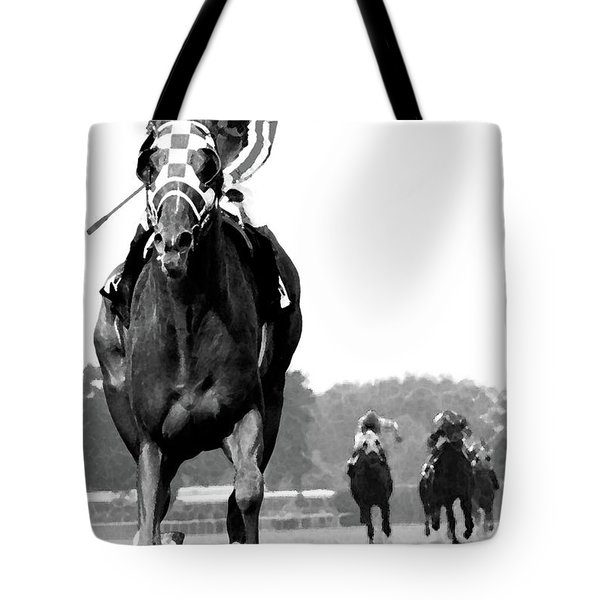 Looking Back, 1973 Secretariat, Stretch Run, Belmont Stakes Tote Bag