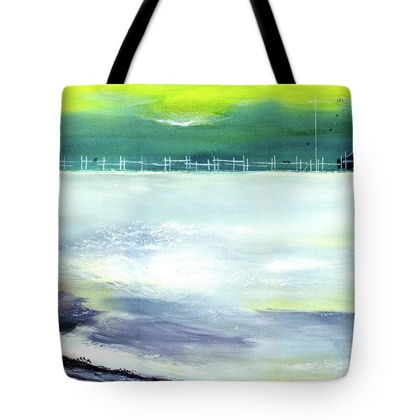 Tote Bag featuring the painting Looking Beyond by Anil Nene