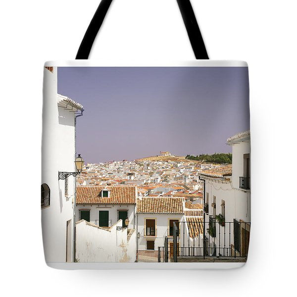 Looking Down Over Antequera  From Near The Church Of Santa Maria La Mayor  Tote Bag by Mal Bray
