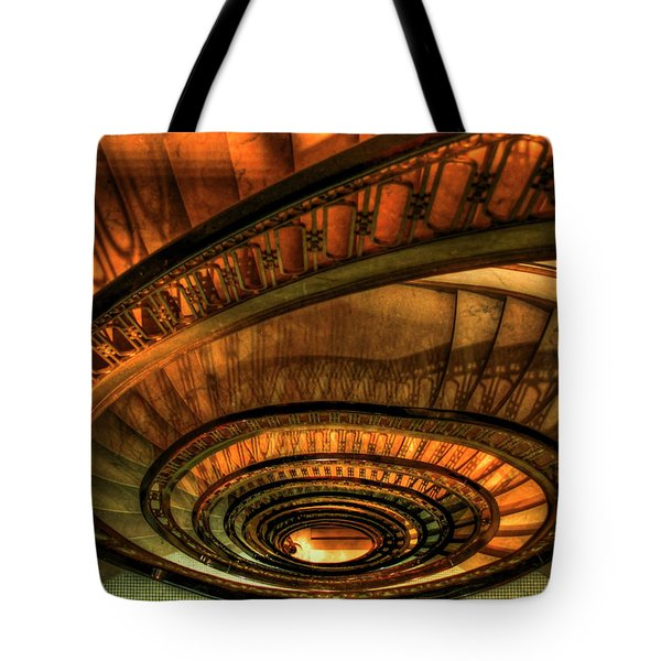 Looking Down The Ponce Stairs Opened In 1913 Tote Bag by Reid Callaway