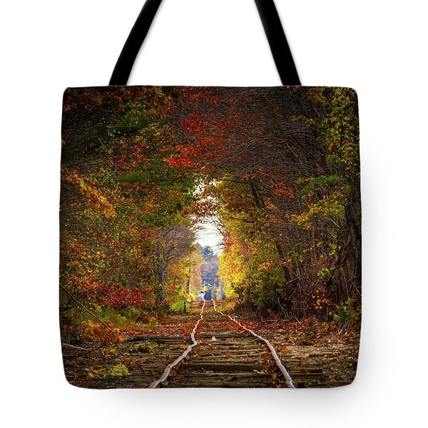 Looking Down The Tracks Tote Bag