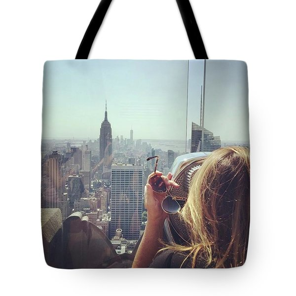 Looking Downtown In Style. #nyc Tote Bag