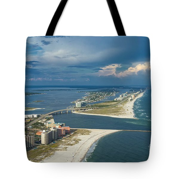 Tote Bag featuring the photograph Looking East Across Perdio Pass by Gulf Coast Aerials -