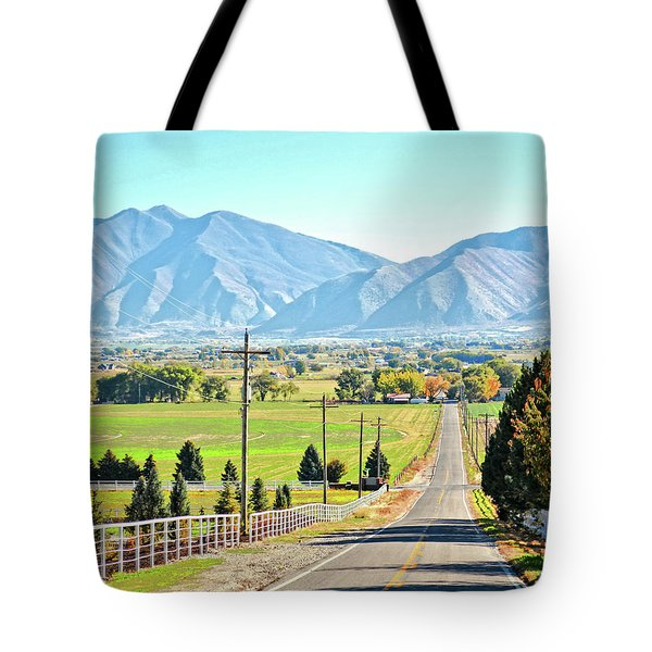 Looking East From West Mountain Tote Bag