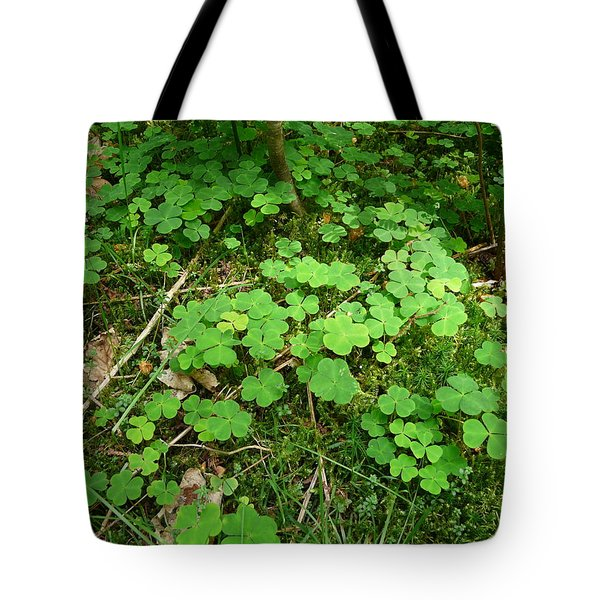 Looking For A Four-leaf Clover Tote Bag by Valerie Ornstein