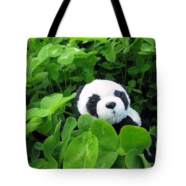 Tote Bag featuring the photograph Looking For A Lucky Clover by Ausra Huntington nee Paulauskaite