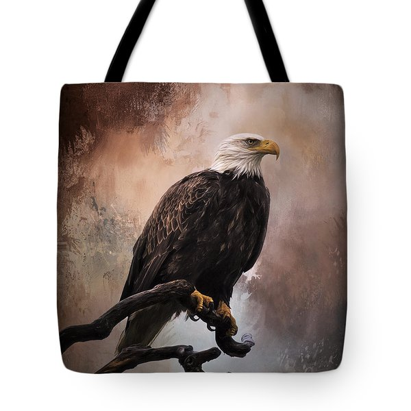 Looking Forward - Eagle Art Tote Bag by Jordan Blackstone