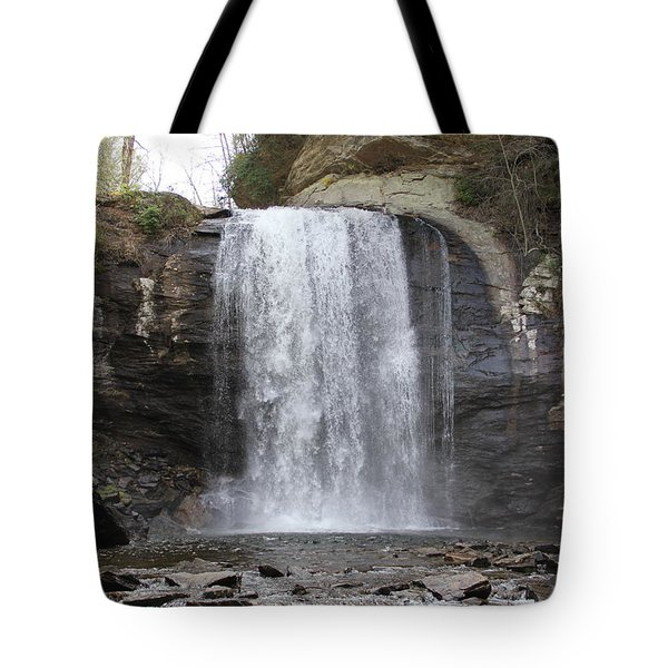 Looking Glass Falls Front View Tote Bag